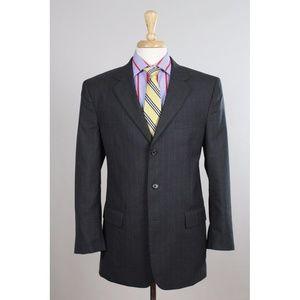 #JosABank 41R Gray Stripe 3B Mens Sport Coat 0034